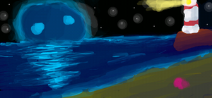 Nightly Ocean by BaronOfTheWillows
