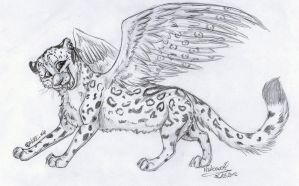 Sketch trade #5 - Wanna fly with me? by Nakouwolf