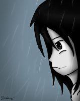 Alone in the rain by Damian-Fluffy-Doge