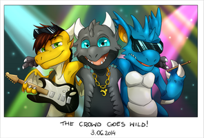 The Crowd Goes Wild by Natsuakai