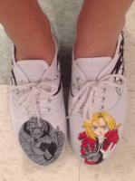 Fullmetal Alchemist Shoes by aliapples