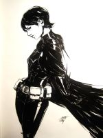 Cass Cain unmasked ink by AaronNSN