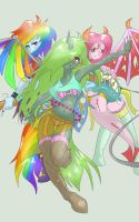 SPECTRUM DASH PSYCHO PIE AND PRINCESS HEART IN KNE by DEVIOUS-DISCORD-RP