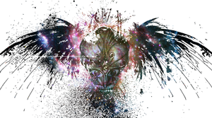 Alien in space wallpaper - eagle by Abstract-scientist