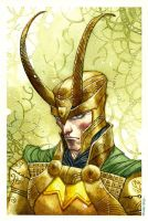 Loki watercolor by rogercruz