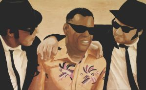 Ray and the Blues Brothers by farnarcle