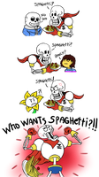 Papyrus and the spaguetti by hookls