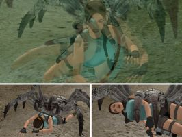 Lara Croft vs Giant Spider 2 by alyxcaptor