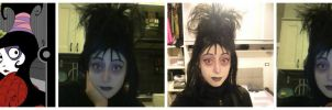 Lydia Deetz Makeup test by Lady-Ragdoll