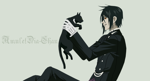 Sebastian and Cat - Vector by AmuletDia-Chan