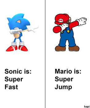 Sonic and Mario by MrSneakyPhotoShop