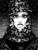 Girl in Headscarf by Frohickey