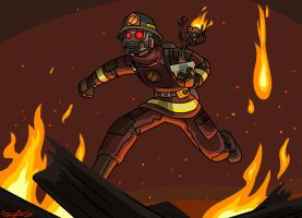 Fire-Lord...Who? (*sigh* Star-Lord, man) by Lee-Sanixay