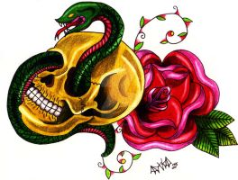 Serpent in the Skull by Vicki-Death