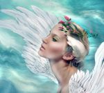 An Angel is Watching  by LindArtz
