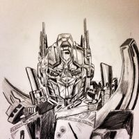 Optimus Prime by CaylinDrawsStuff