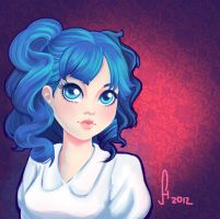 Blue Hair - Colour Study by hitomi--i