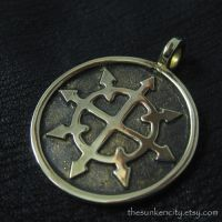 Chaos Star pendant (bronze) by Sulislaw