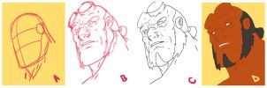 Drawing Hellboy [stepbystep] by HughFreeman
