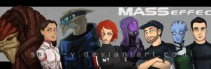 Mass Effect Squad Members V2 by Saph-y