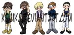 Gundam Wing Bookmark Set by kojika