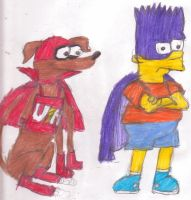 Bartman and Ultra-Hound by sideshowbobfanatic