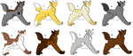 x...::Wolf Adoptables::...x by AsukaFur