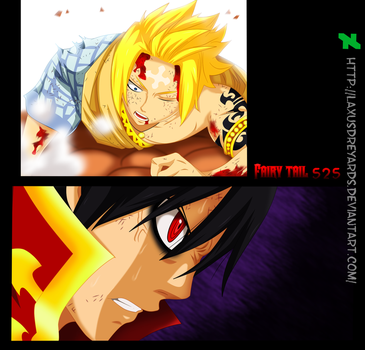Larcade y Zeref  Fairy Tail 525 by LaxusDreyarDs
