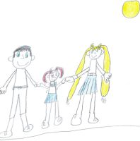 A picture of Rini and her parents by sailorcancer01