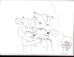 A Way Fox Shows He Loves Daddy by starfoxluver