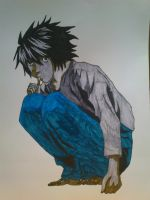 Death Note: L by SkyChow