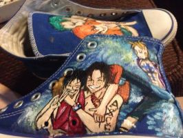 One piece Shoes by crazzyredhead