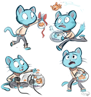 Gumball and Darwin by sharkie19