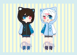 Twin Kitties|Adopt Auction|OPEN by SkellyGhost