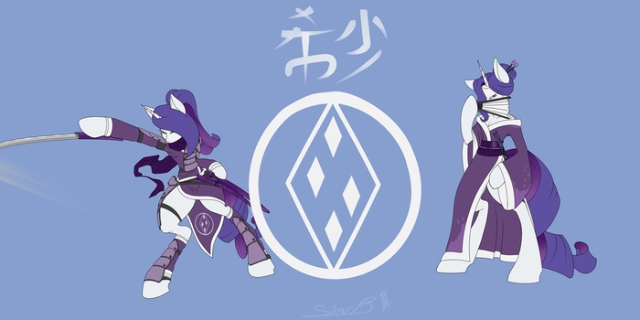 Gem clan champion Rarity by RykuBloodwing