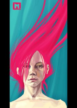Red wind by Melaamory
