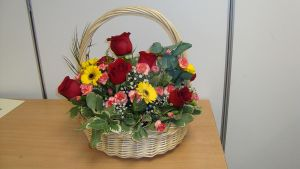 Basket with handle arrangement by Haleema-A
