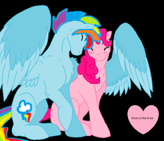 Love Is The True (rainbow blitz and pinkie pie) by princess-taylor
