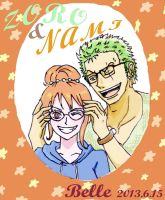 Intellectual Pair (Zoro Nami) by BelleLoveZoro