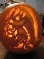Deku Link Pumpkin -Light by ShyGuyBand