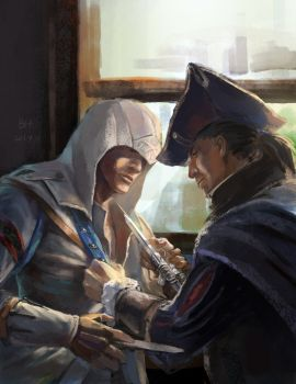 Connor and Haytham by YeastSoldier