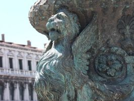 Vienna Lion with Wings Statue Stock by AngelSTOCK22