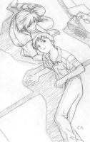 Kaworu and Shinji after school by reith-iv