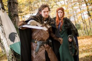 Robb Stark and Catelyn Tully by AzurBlueDragon