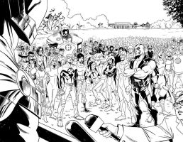 Fear Itself double page by Miketron2000