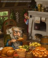Oldster's dinner by LiaSelina