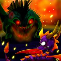 Spyro vs Demon Buzz by ZzNightmareGirlzZ