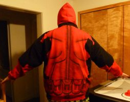 Finished Deadpool Hoodie Back by Linksliltri4ce