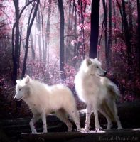 Wolves in the Enchanted Forest by Eternal-Dream-Art