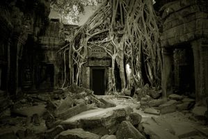 Temple Cambodia by klangmaid